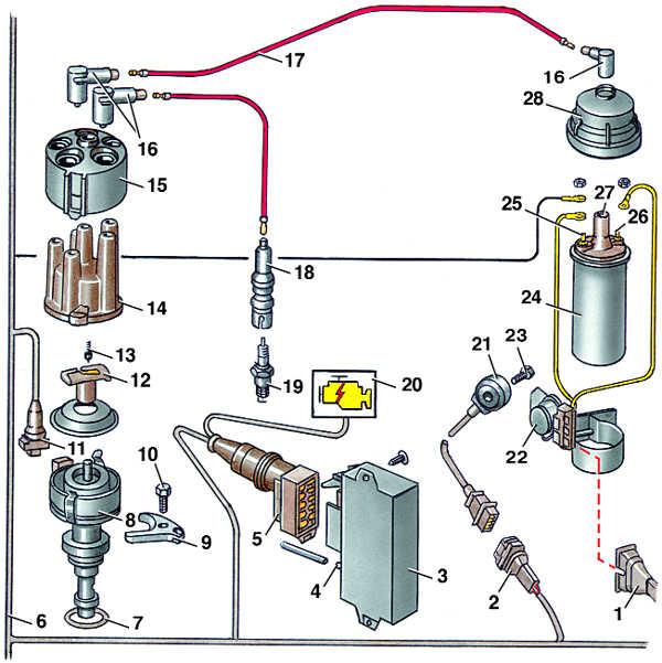система зажигания audi 100 cc