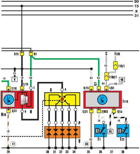 12.9.21 Система зажигания, устройство контроля давления масла