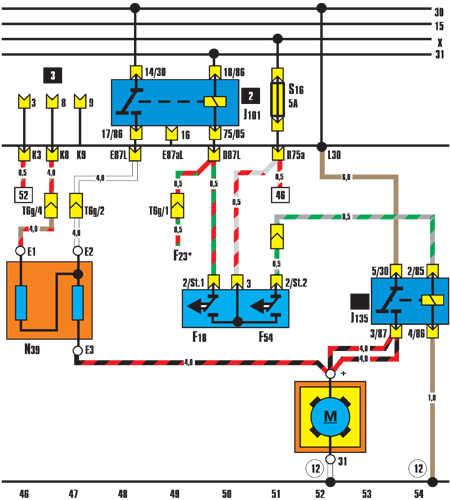 12.9.28 Вентилятор радиатора (работа после остановки двигателя)