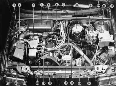 1.14 Моторный отсек Audi 80