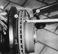 11.7 Измерение толщины колодок дискового механизма