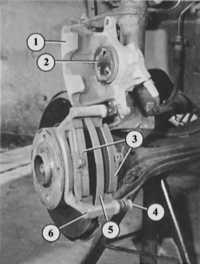 11.9 Замена колодок дисковых тормозных механизмов Audi 80
