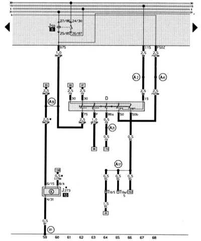 14.13.2 Выключатель зажигания и стартера, разгрузочное реле контакта Х,   демпфирование топливного бака
