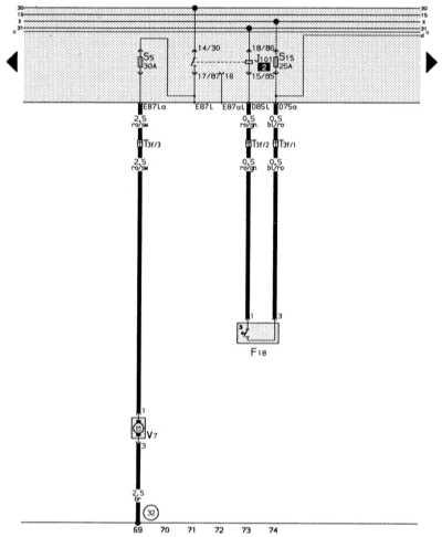 14.13.3 Вентилятор для охлаждающей жидкости, термовыключатель для вентилятора