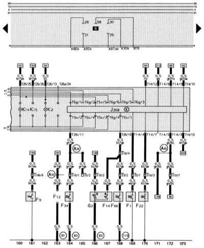 14.13.11 Комбинация приборов, система минипроверки (mini-check-system), контроль   давления масла, контроль охлаждающей жидкости