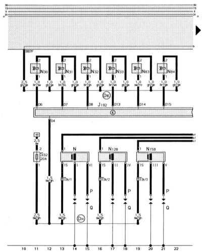 14.16.1  2,6-литровый 6-цилиндровый двигатель (110кВт)