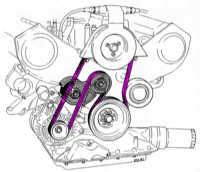 14.35 Замена клинового ремня Audi 80