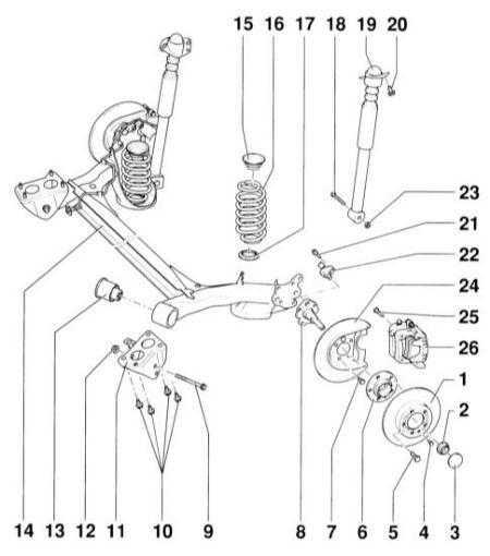12.3 Задняя подвеска Audi A3