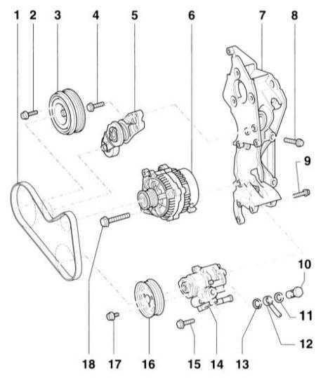 12.6.4 Снятие и установка насоса гидроусилителя руля