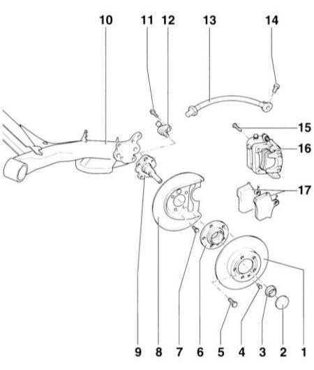 11.2 Снятие и установка дисковых тормозных механизмов задних колес