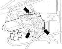 13.51 Снятие и установка электродвигателя стеклоподъемника