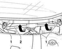 14.31 Снятие и установка электродвигателя переднего стеклоочистителя