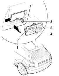 14.16 Замена лампочек внутреннего освещения Audi A3