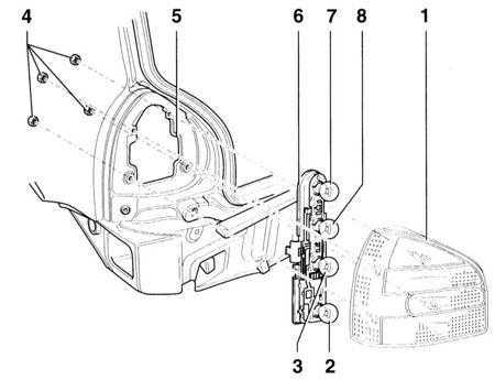 14.17 Снятие и установка фары Audi A3