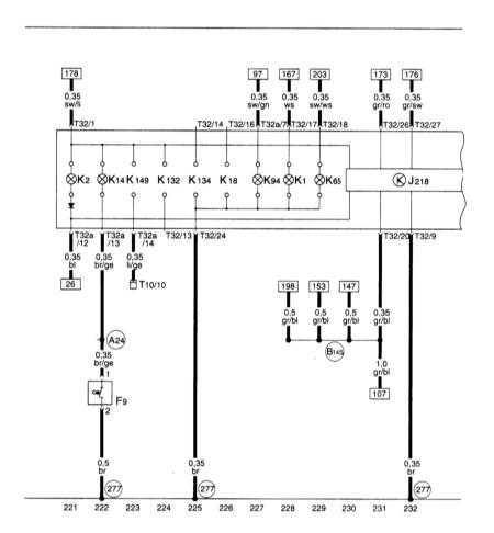 15.22 Блок панели приборов, комби-процессор в блоке панели приборов, контроль стояночного тормоза