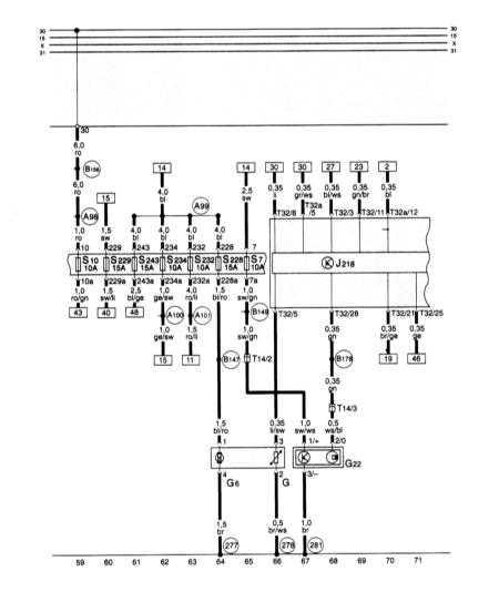 15.32 Блок панели приборов, комби-процессор в блоке панели приборов, топливный насос, датчик резерва топлива, датчик скорости