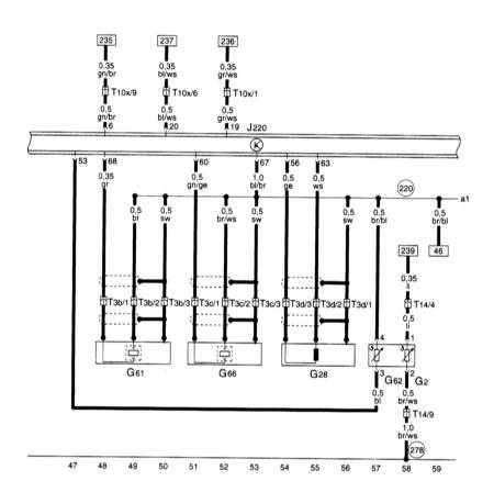 15.7 Прибор управления для Motronic, датчиков детонации, датчика числа оборотов двигателя, датчика температуры охлаждающей жидкости