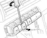 13.26 Снятие и установка выключателей центральной консоли