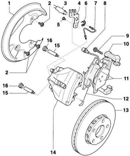 10.3 Снятие и установка передних тормозных колодок