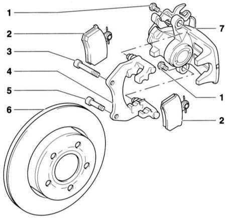10.4 Снятие и установка колодок тормозных механизмов задних колёс