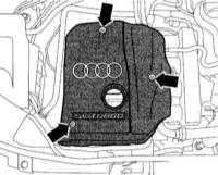3.1 Снятие и установка верхней крышки двигателя/нижней защиты двигательного отсека/подрамника