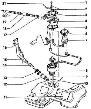 6.2.9 Топливный бак Audi A6