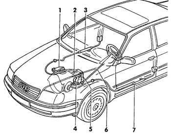 12.24 Механизм натяжения передних ремней безопасности