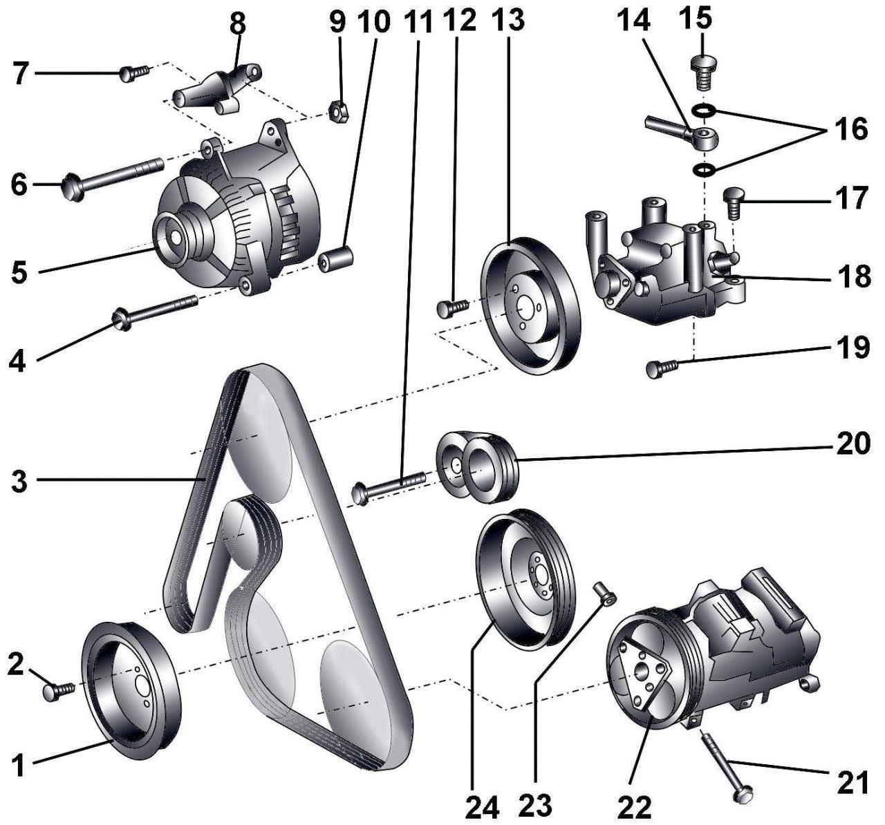 Схема установки приводного ремня фото 551