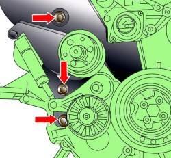 4.4 Замена зубчатого ремня Audi A8
