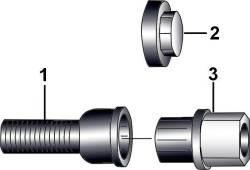 19.6 Болты-«секретки» для крепления колес