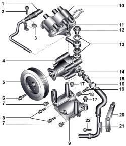 20.6 Насос усилителя рулевого управления автомобилей с бензиновыми двигателями 2,8 л