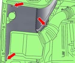2.9 Замена фильтрующего элемента воздушного фильтра