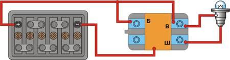 12.9 Схема проверки интегрального регулятора напряжения