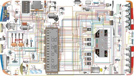 12.3 Схема электрооборудования автомобиля