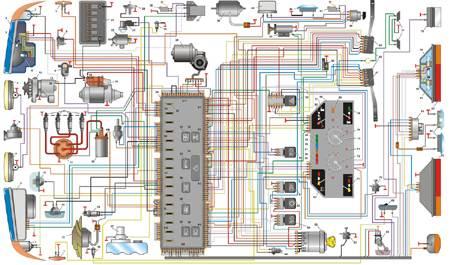 12.4 Схема электрооборудования автомобиля