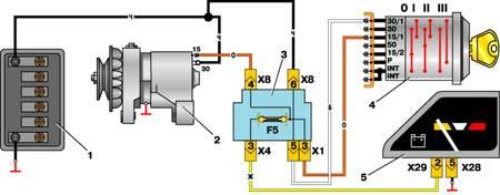 12.7 Схема соединений генератора