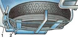 7.9 Крепление запасного колеса