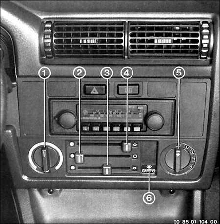 1.4 Панель приборов BMW 3 (E30)