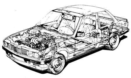 1.0 E30 – BMW 3 серии (2-дверное купе, 4-дверный седан), 1983-91   гг. выпуска