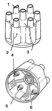 2.17 Проверка высоковольтных проводов, бегунка и крышки распределителя
