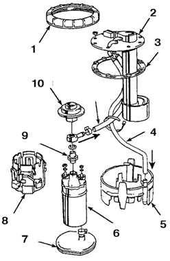 6.12 Топливный насос, насос подкачки и датчик уровня топлива   в баке