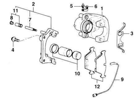 11.4 Снятие и установка тормозных колодок дисковых тормозов