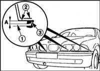 13.7 Снятие и установка переднего бампера BMW 5 (E39)