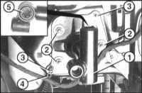 13.8 Снятие и установка амортизаторов переднего бампера