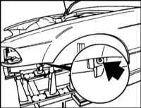 13.11 Снятие и установка переднего крыла BMW 5 (E39)