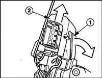 13.25 Снятие и установка электродвигателя/ микровыключателя единого   замка