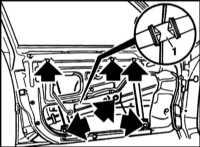 13.27 Снятие и установка электрического стеклоподъемника