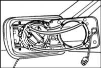 13.29 Снятие и установка стекла зеркала BMW 5 (E39)