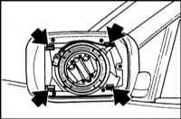 13.30 Снятие и установка корпуса наружного зеркала