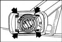 13.30 Снятие и установка корпуса наружного зеркала BMW 5 (E39)